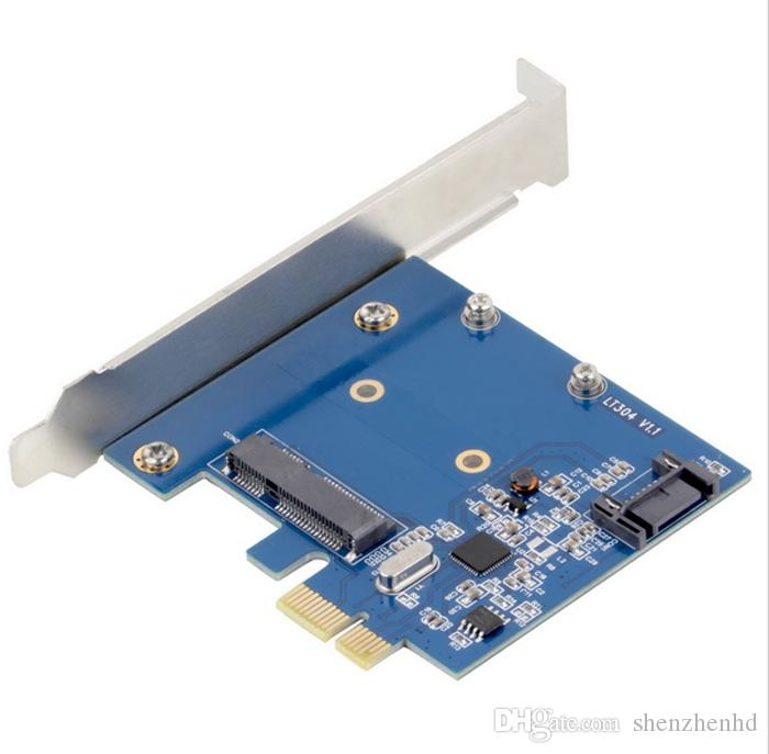 PCI-E PCIe to mSATA SSD + SATA 3.0 Combo Extender Adapter PCI-E to SATAIII Card sata3.0
