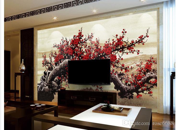 Großhandel Phoot Jede Größe Hochhaus Rosen Fortune Hongyun Dreidimensionale  Ölgemälde Wohnzimmer Hintergrund Wand Von Rose6688, $30.16 Auf De.Dhgate.