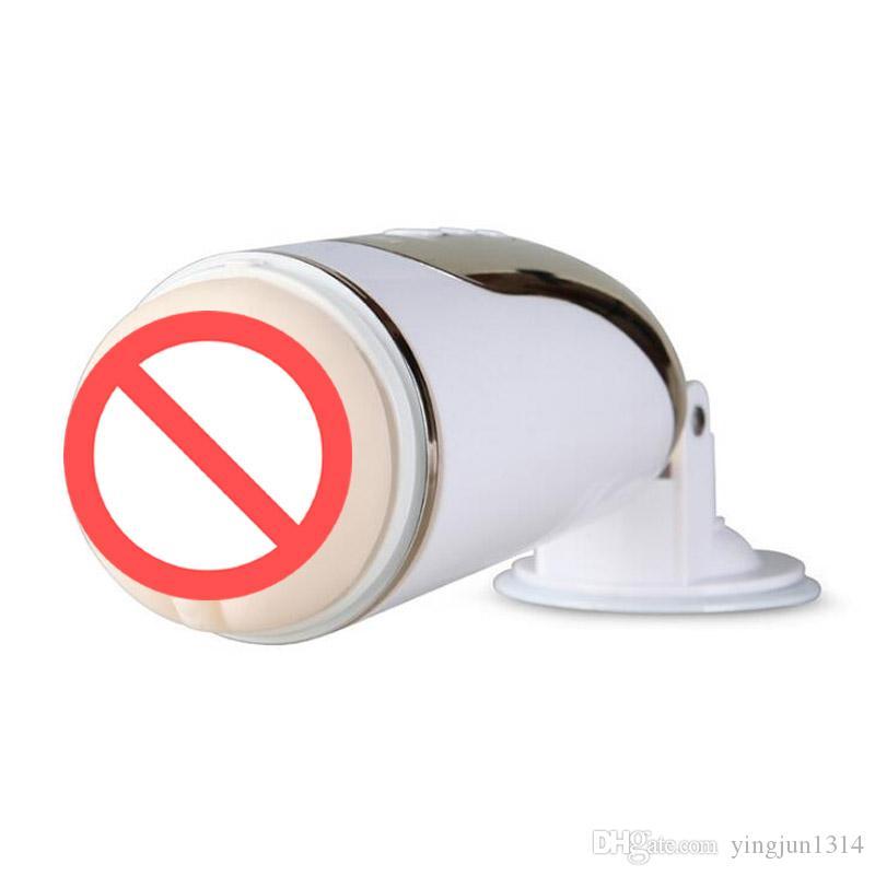 새로운 부드러운 소재 강한 빨아 USB 요금 핸즈프리 전기 자동 남성 자위 컵 음성 포켓 음모 인공 질