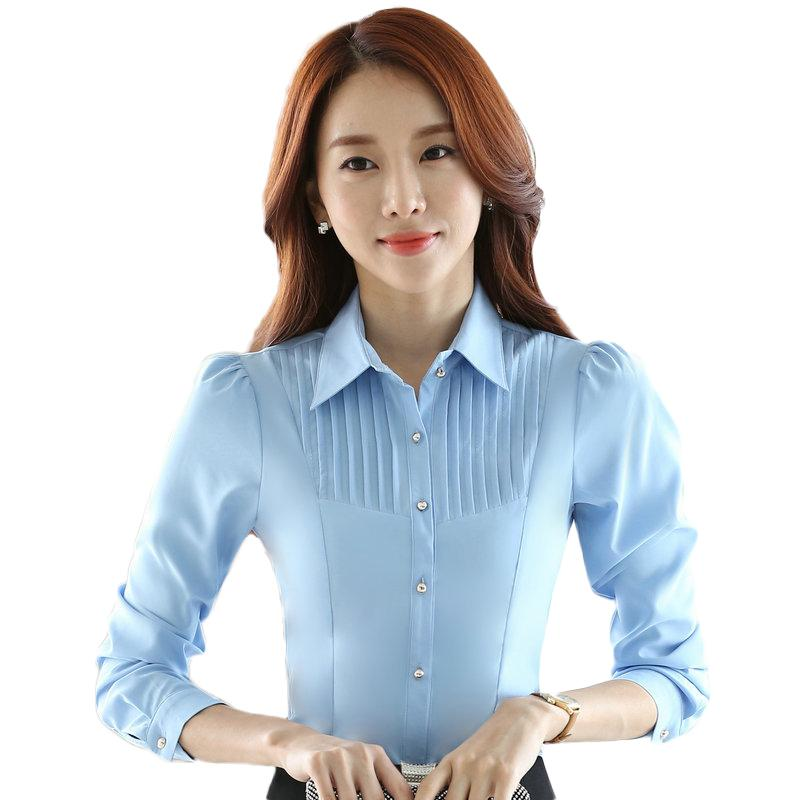 35c652a8 2019 Summer Fashion Women'S Chiffon Long Sleeve Blouses Turn Down Collar  Slim Blusa Feminina Work Wear Office Tops From Moshuichun, $14.32 |  DHgate.Com