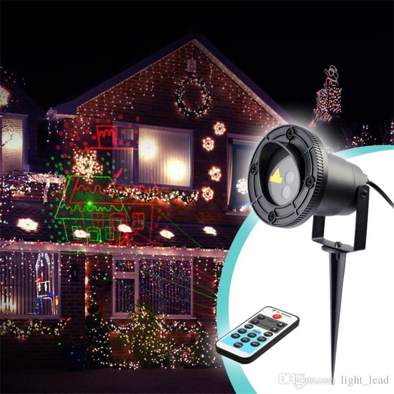 2018 8 pattern christmas led projector lights ac110 240v 5w led landscape laser lights ip65 outdoor holiday decorative spot lamps from light_lead - Christmas Led Projector