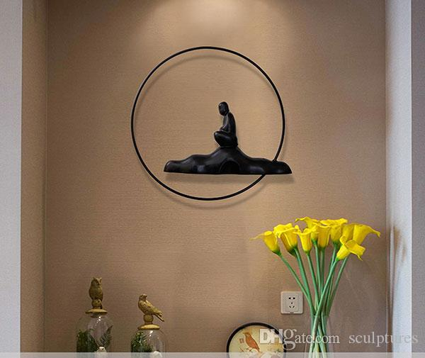 Promotion Religious Special Offer China Handmade Abstract Asian Metal Iron Wall Art Budha for Living Room of Home Decorations