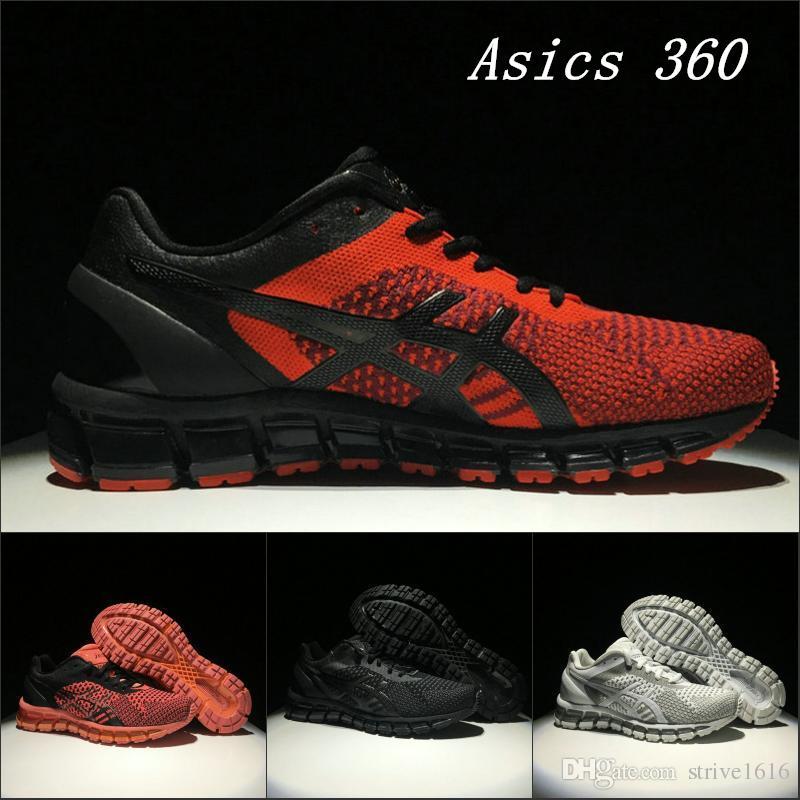 ac1a5afc16895 Top qualidade asics gel-quântica 360 t728n homens de tricô tênis de corrida  atacado preto vermelho original dos homens das mulheres designer de tênis  37-45