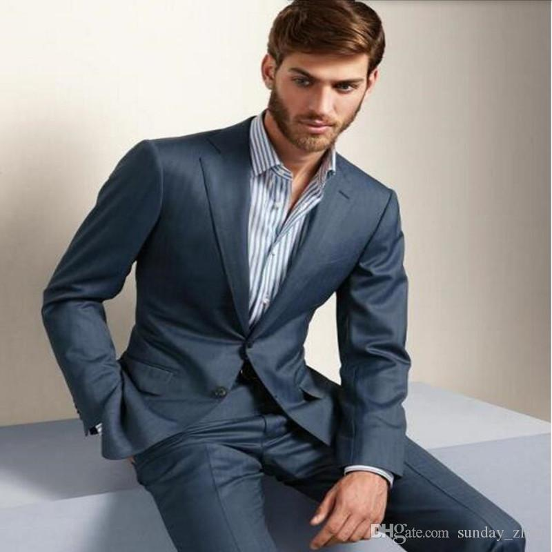 Tailor Made men suit slim fit formal business occasions suits Fashion wedding prom party tuxedos Suitsjacket+pants