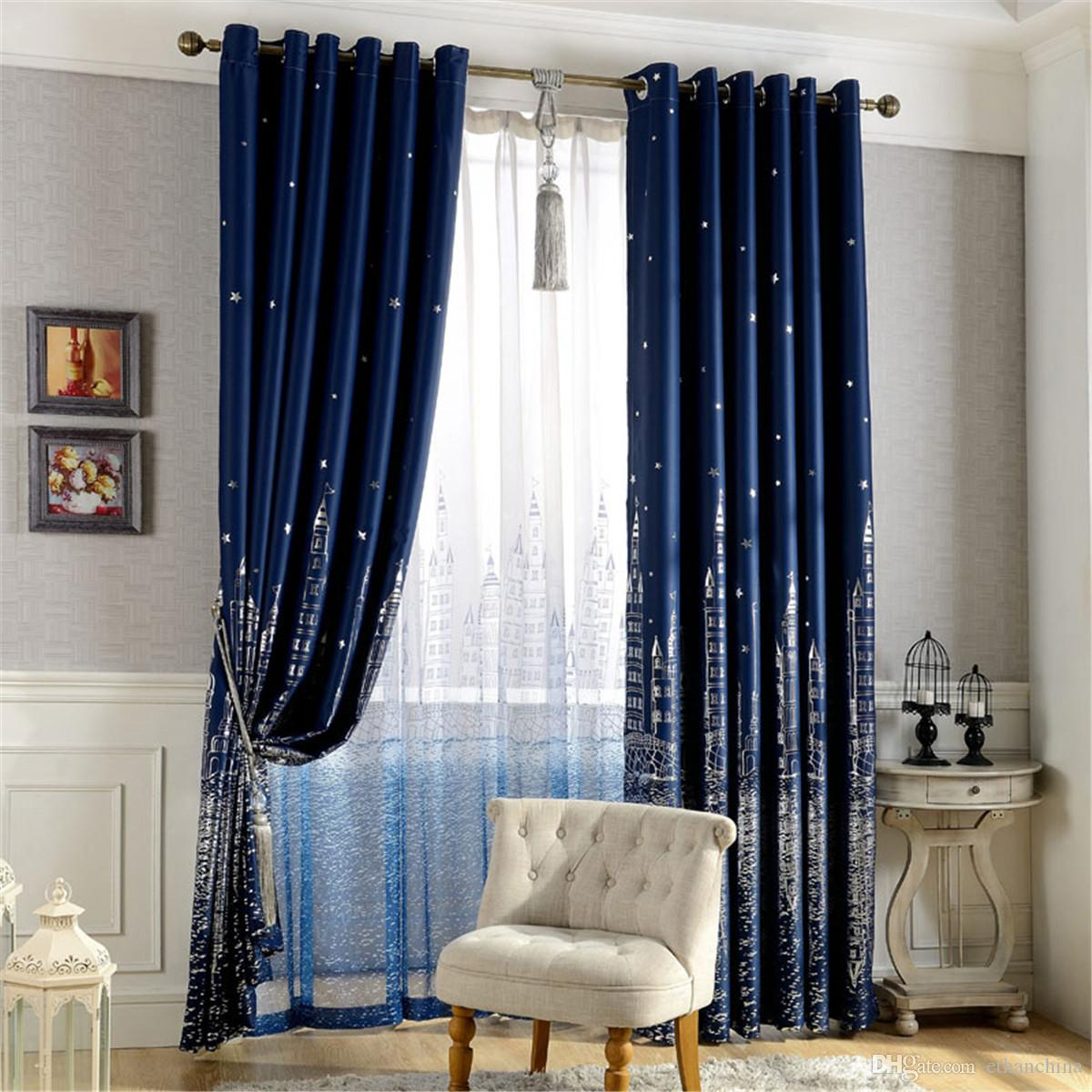 patterned curtains for living room. See larger image 2018 Ivolador Castle Pattern Curtains Polyester Blackout Curtain