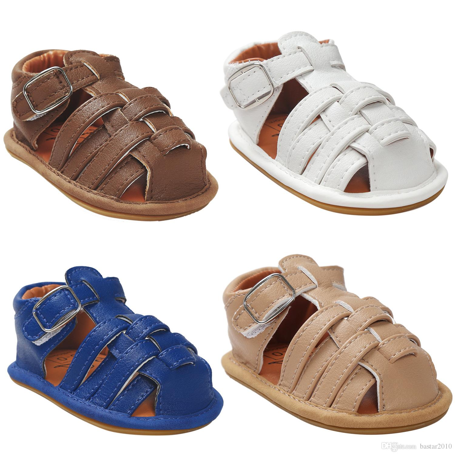 2018 2017 New Baby Boy Sandal Shoes 0 24 Months Baby Pu Soft Summer