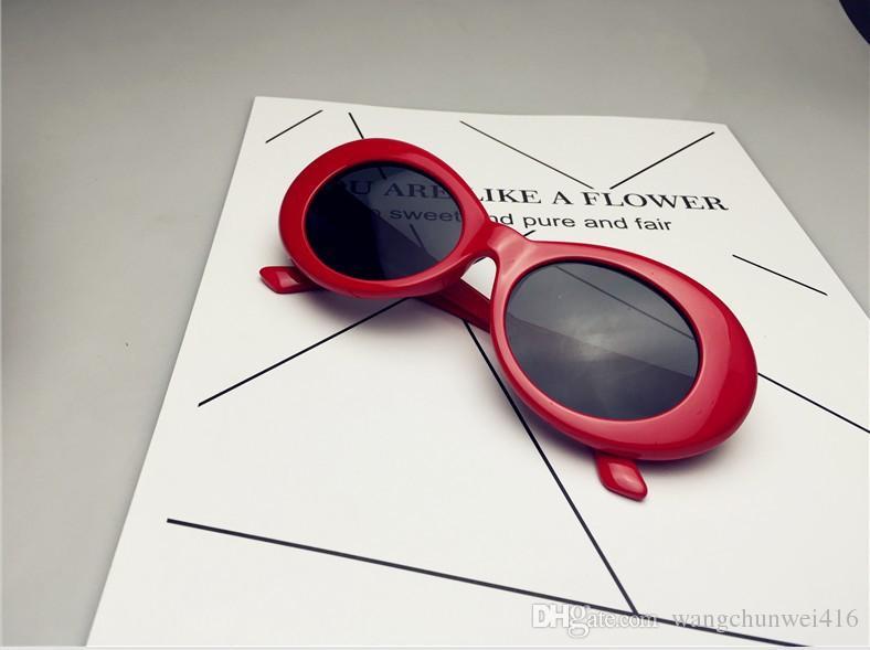 Moda NIRVANA Kurt Cobain Gafas de sol para hombres Moda para mujer turismo playa Alien Oval Gafas de sol