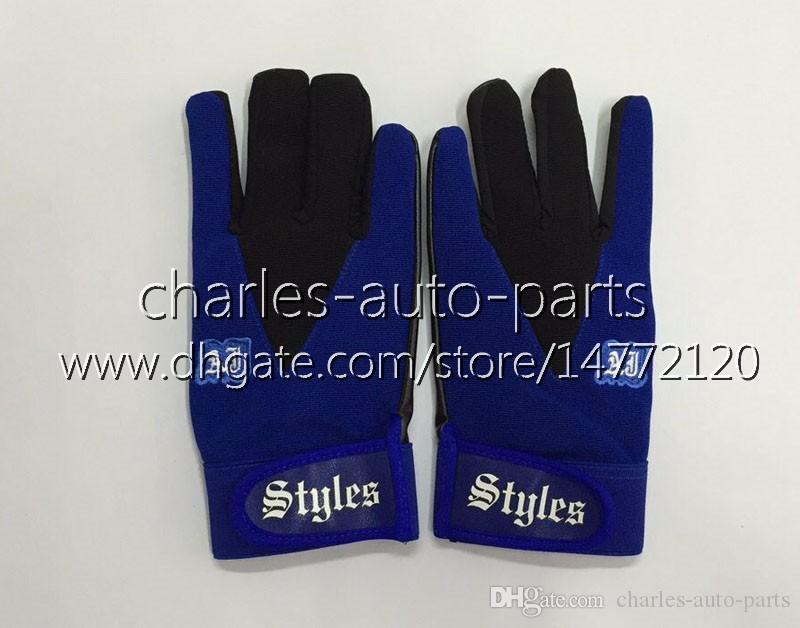 100% New Blue Gloves Hot Exclusive customized design Blue AJ Styles Gloves Unisex Sports Bone Women Man Children New AJ Gloves
