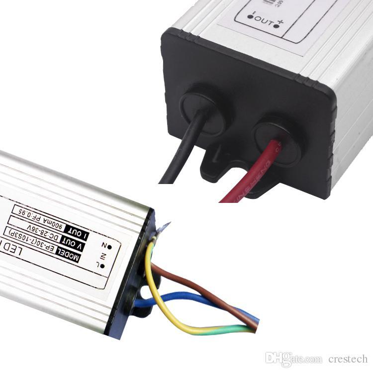 10W 20W 30W 50W 70W 80W 100W IP67 a prueba de agua Corriente constante LED Driver para reemplazo LED Reflector Highbay Luces de reemplazo