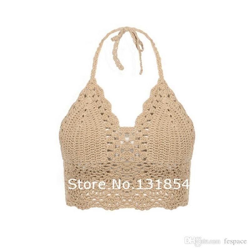Compre Venta Al Por Mayor Blusa Sexy Bikini Crochet Vintage Boho ...