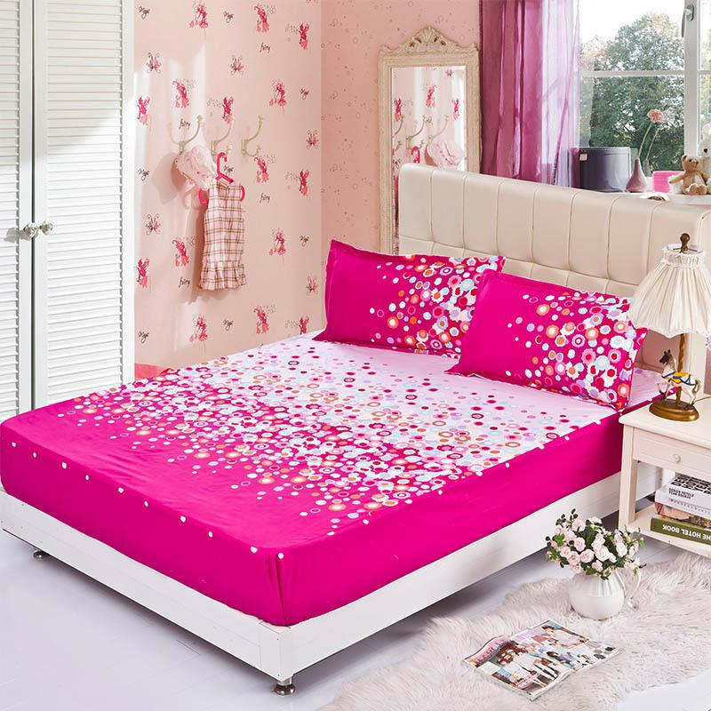 Wholesale Fitted Sheet Elastic Mattress Cover Dazzle Colour Red Bed