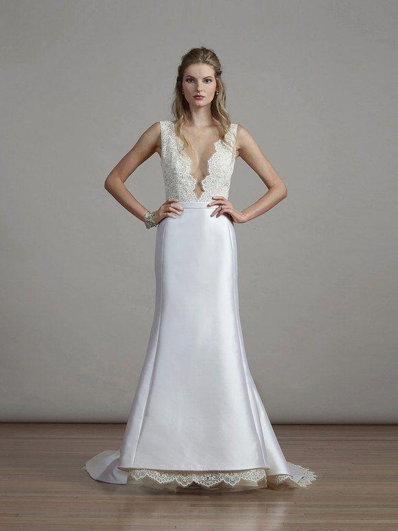 Lace Satin Mermaid Silhouette Wedding Dresses 2018 Liancarlo