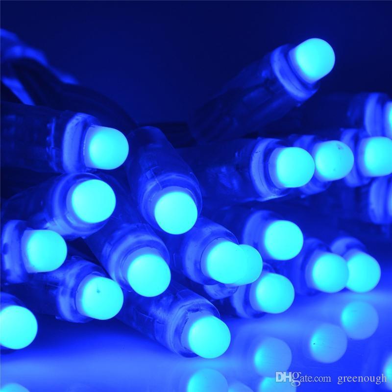 RGB LED 스트링 조명 IP68 방수 LED 픽셀 빛 DC5V 크리스마스 조명 색상 변경 요정 문자열 조명 IC 없음
