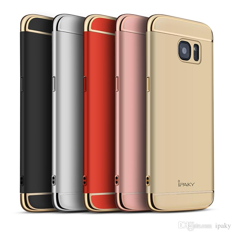 ipaky for samsung galaxy s7 edge case electroplate frame 3 in 1