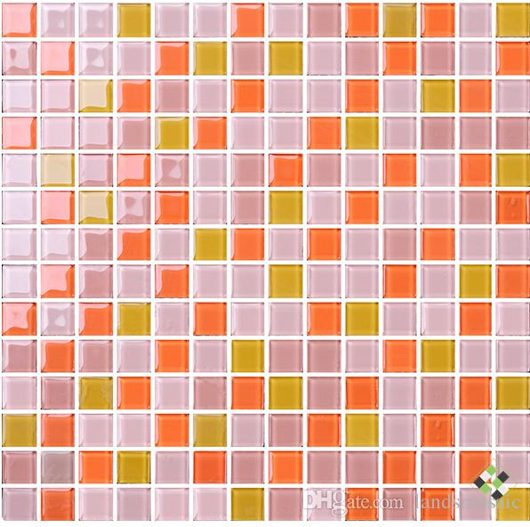 Discount New!!modern Style Mix Color Glass Mosaic Tiles,Home Decor ...