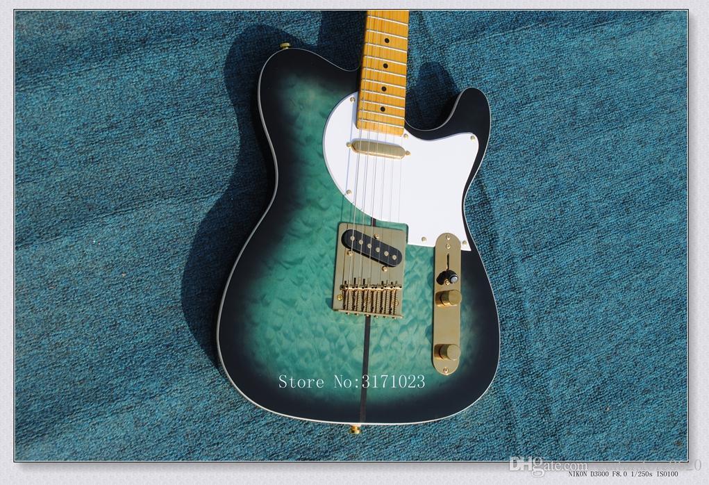 Высокое качество Merle Haggard гитара туф собака biue Sunburst электрогитара горячая