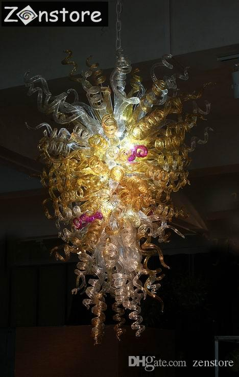 Compre fancy crystal twisted glass chandelier chihuly murno lmparas compre fancy crystal twisted glass chandelier chihuly murno lmparas de cristal led lights 100 soplado a mano lmpara de araa de cristal a 115578 del aloadofball Images