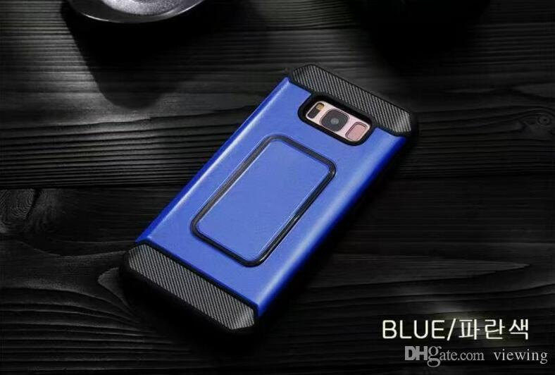 Hybrid Armor Case Shockproof Back Cover With Phone Stand Holder Bracket Work With Car Magnetic Mounts For Samsung Note 8 iPhone 8 7 6/S Plus