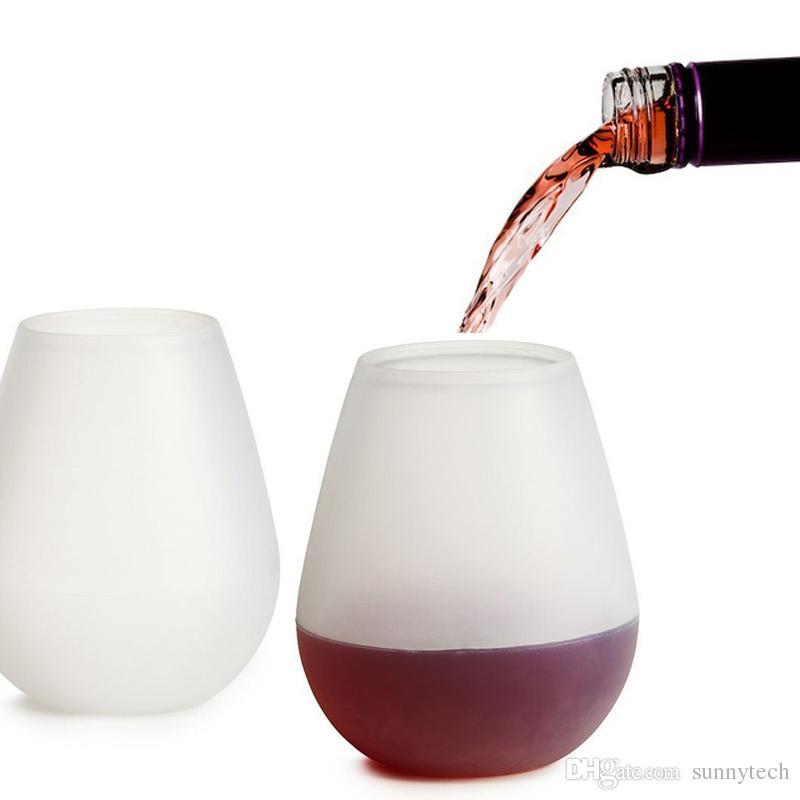 Nouveau Design Mode Incassable en caoutchouc transparent verre à vin en silicone verre à vin en siliconeVogue Silicone Tasses à bièreVerre Verre pour Camping