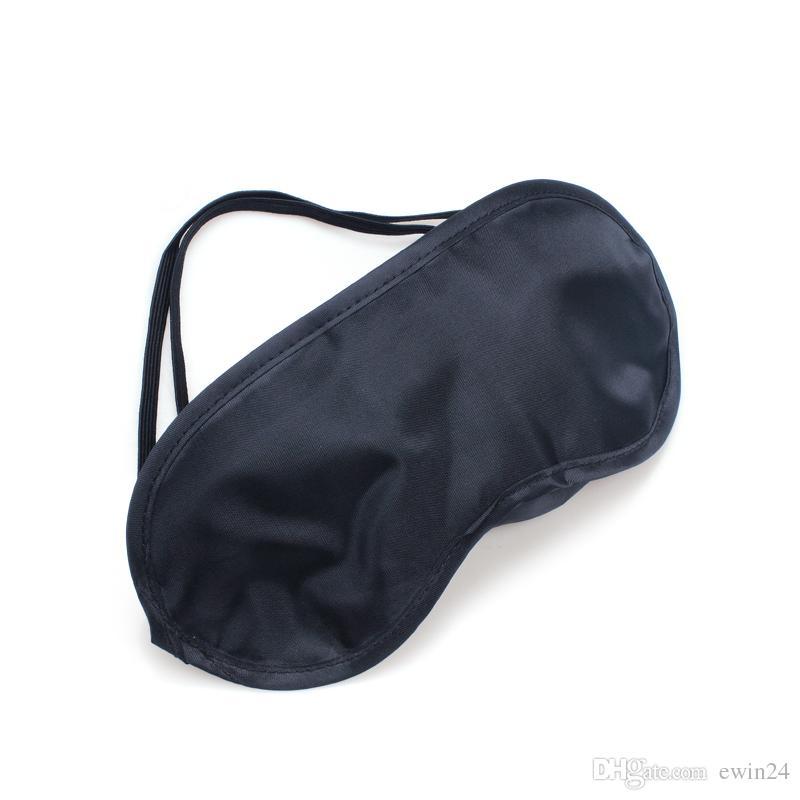 Black Sleep Eye Masker Shades Sleeping Rest Cover Blinddoek Nieuwe Outdoor Air Travel Groothandel 1200 stks Vermijd direct zonlicht