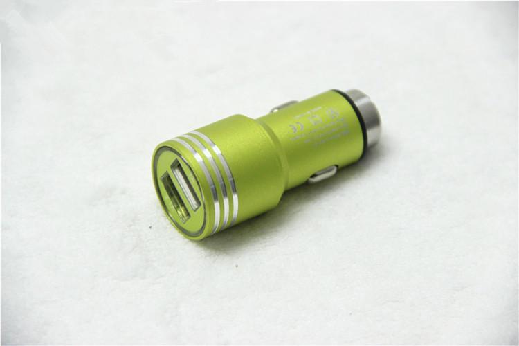 Chargeur allume-cigare double port USB en alliage d'aluminium de sécurité véritable 1.3A universel pour téléphone intelligent protection /