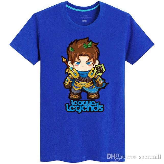 Camiseta de Garen Camiseta popular de manga corta de League of Legends camisetas Juego lol Hombres camiseta de algodón