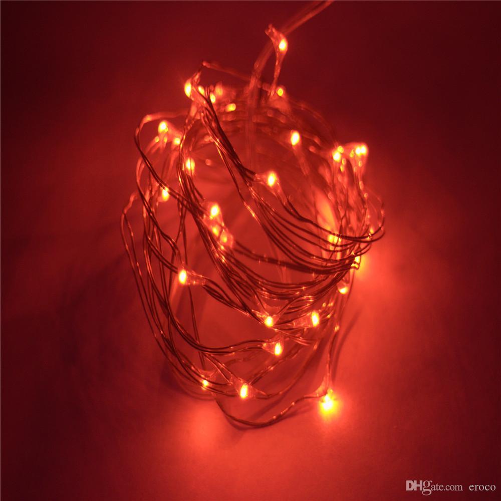 3m/10feet Christmas Led Copper Wire String Lights 30ledaa Battery ...