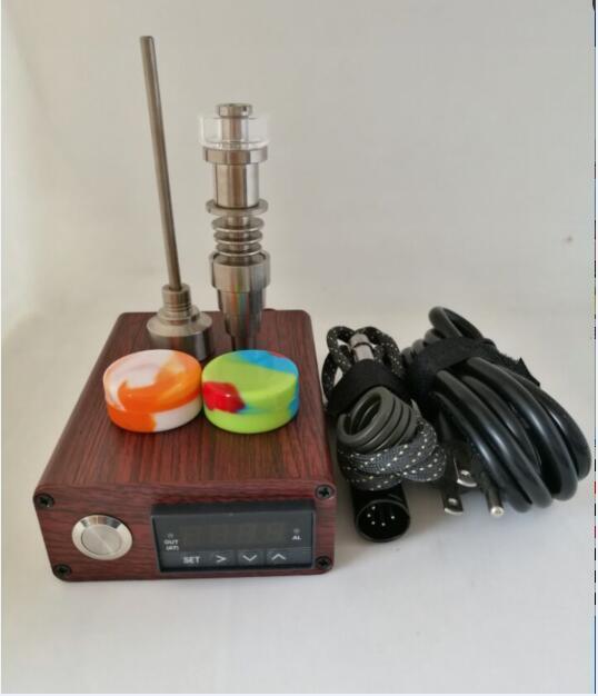 Portable colorful Enail kit electric dab nail Pid digital Tc box E nail Dnail kits Titanium Quartz nails coil heater for glass bong