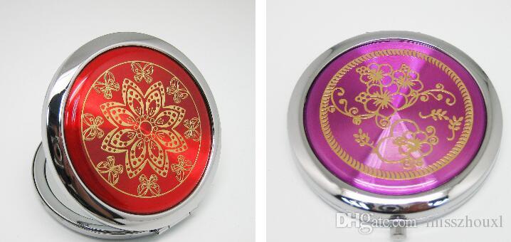 Freies Großhandelsverschiffen mischte CD Adern kompakten Spiegel-Verfassungs-Spiegel-Hochzeits-Bevorzugungsschminkspiegel