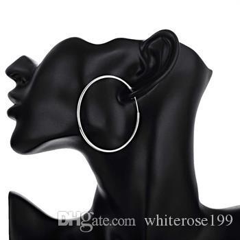 Großhandel - niedrigster Preis Weihnachtsgeschenk 925 Sterling Silber Mode Ohrringe E33