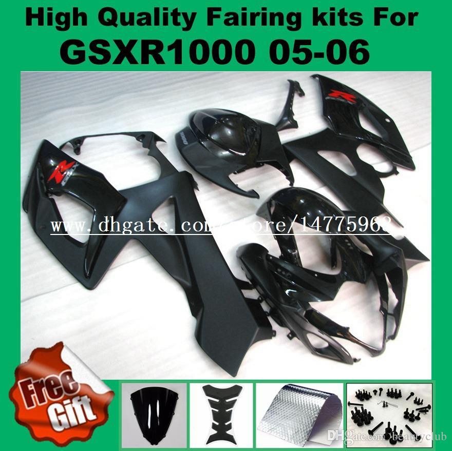 100% Encaixe de Carenagens para SUZUKI 2005 2006 GSXR1000 GSX-R1000 05 06 Kit de Carenagens GSXR 1000 2005 2006 Pre_drilled kit de carenagem vermelho preto # 72216