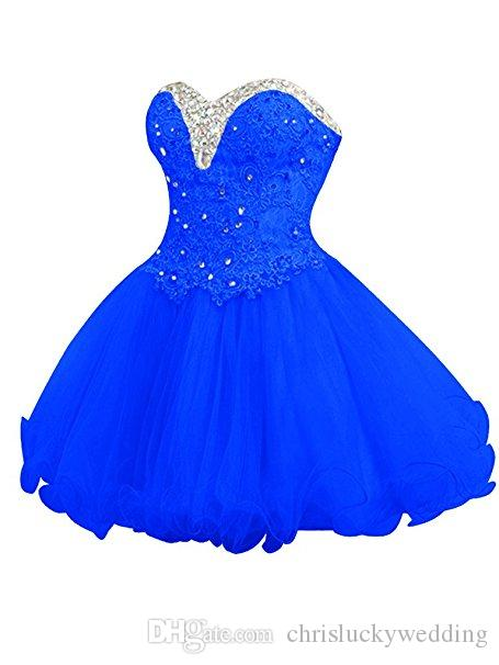 Short Homecoming Dresses 2017 New A-line Sweetheart Lace Beading Homecoming Dress Plus Size Cocktail Party Dress Evening Gown
