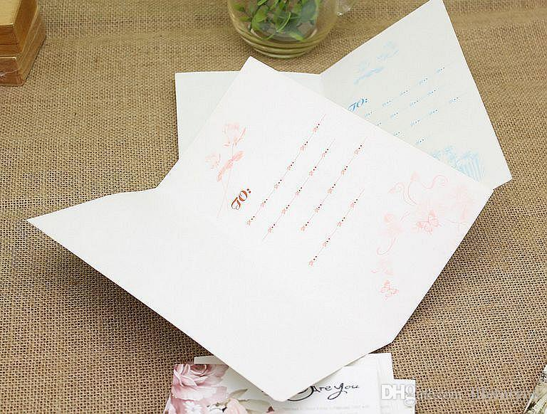 cartes de voeux cartes 3d cartes de mariage carte d'anniversaire à la main carte de Saint Valentin Thanksgiving croquis carte de voeux avec enveloppe Pack