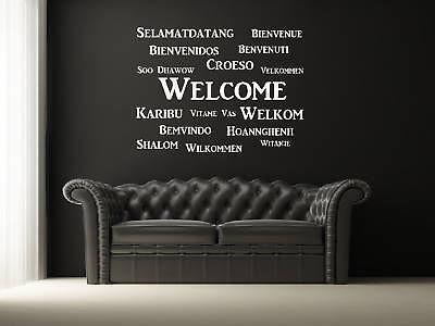 S006 Various Languages Welcome Vinly Living Room Bedroom Wall Decal Selamatdatang Quote Wall Stickers Home Decor
