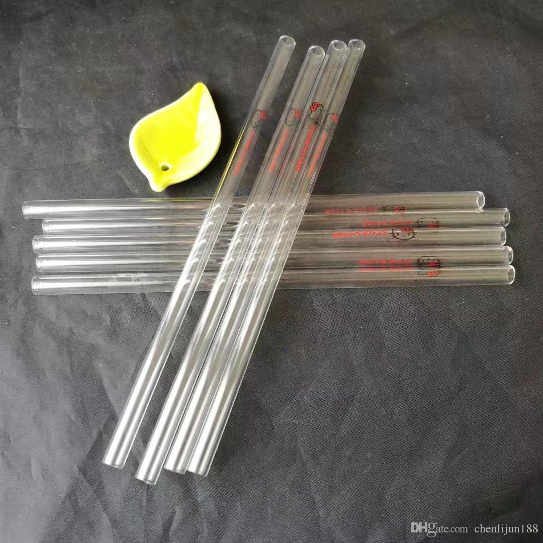 Dos desenhos palha vidro comprimento 20 centímetros de diâmetro 8 mm, canos de água de vidro bongs hooakahs duas funções para plataformas petrolíferas bongs de vidro