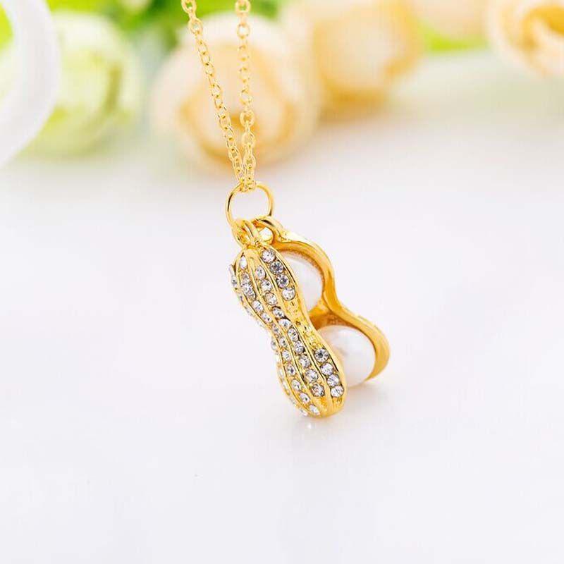Collier à la mode Double perle Top Qualité Véritable Perles Perls Collier Pendentif Cabinet pour Femmes Bijoux plaqués Or 18 carats