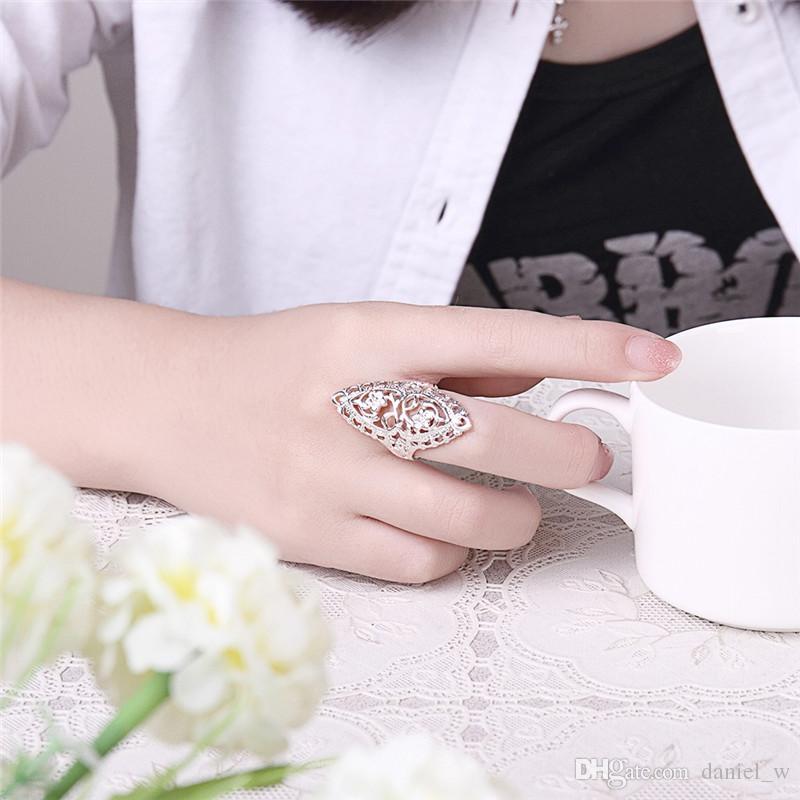 Anelli in argento 925 placcato in argento sterling con anelli la personalità femminile