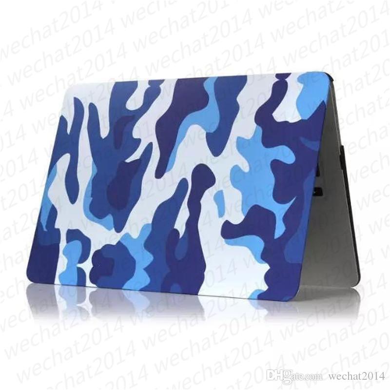 100 UNIDS Camuflaje De Goma Frosted Mate Cáscara Dura Cajas del Ordenador Portátil Cubierta de la caja del cuerpo completo para Apple Macbook Air Pro 11 '' 12 '' 13