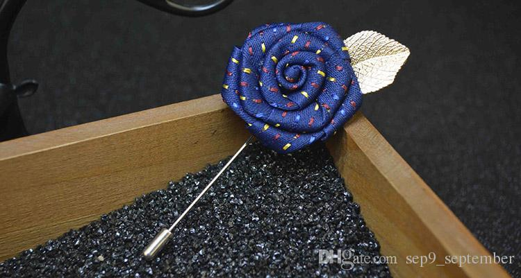 Brooches Handmade Multicolor Casual Mens Rose Brooch Exquisite Flower Brooch for Men Suit Men Lapel Pin Brooches