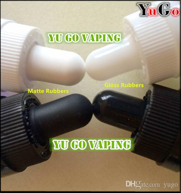GR-1#-60ml 2oz Glossy Clear Europe Round Glass Dropper E-Liquid Bottle; Child Proof Resistant Black and White Caps; Cap Assembling Service