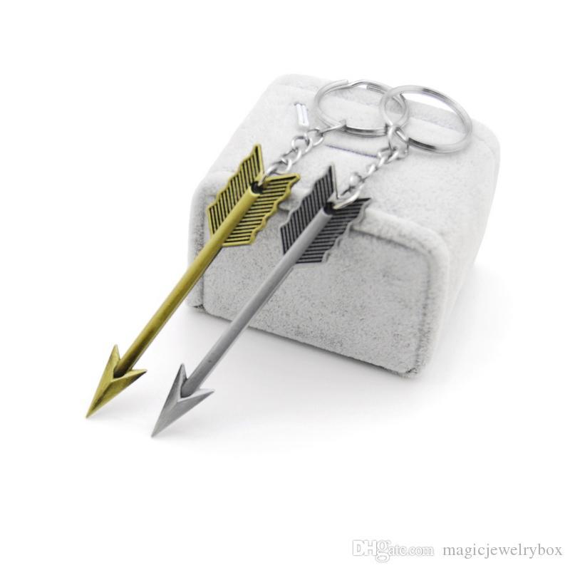 Original de la nueva manera de la cadena dominante de la aleación Espada Arco y flecha llavero artículos de la novedad de los hombres del anillo dominante regalo