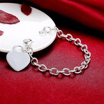Commercio all'ingrosso - regalo di Natale al prezzo più basso al dettaglio, spedizione gratuita, nuovo bracciale in argento 925 moda B268