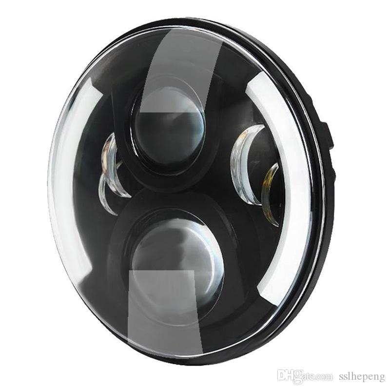 7 pulgadas redonda Daymaker proyector H4 LED faro para Jeep Wrangler JK TJ LJ 7