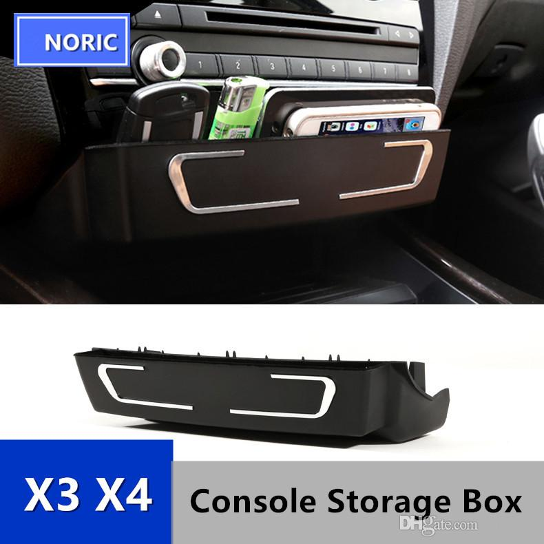 Car Center Console CD Panel Replacement Storage Box For BMW X3 X4 F25 F26  Interior Accessories