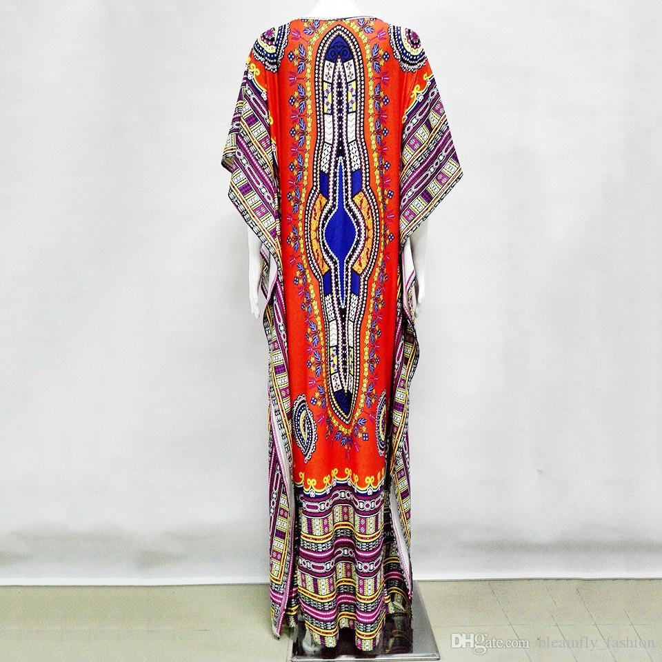 2017 Los Más Nuevos Vestidos Africanos Para Las Mujeres Robe Bazin Africaine Femme Maxi Dashiki Vestido Tradicional Ropa Africana Más El Tamaño