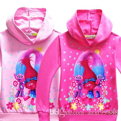 f7cde2c6d214 New Spring Autumn Trolls Jackets for Boy Children Hoodies Outerwear ...