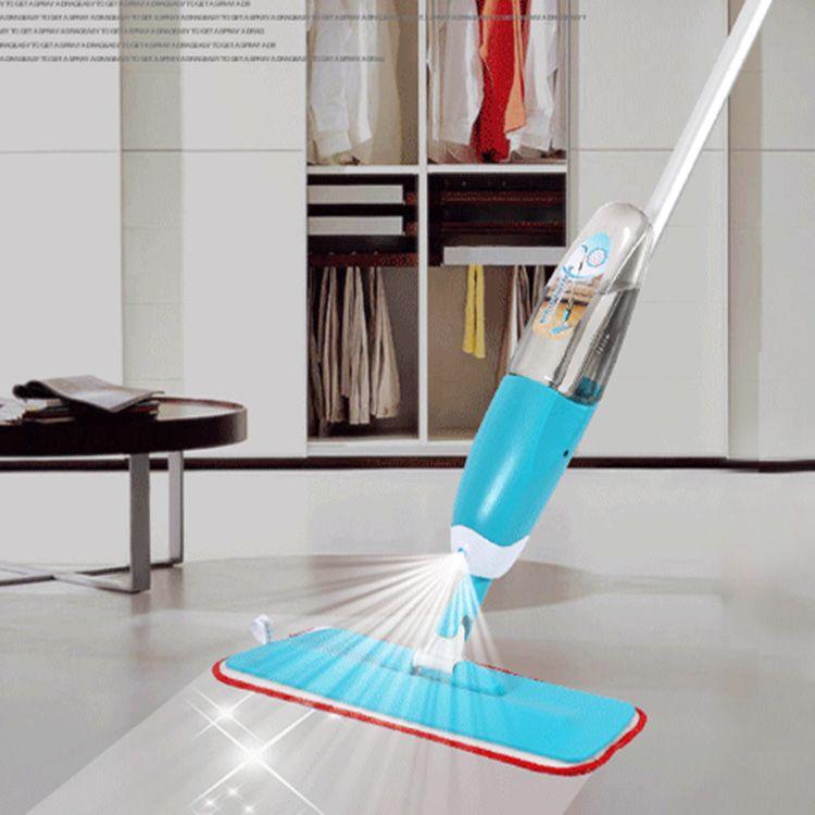 Magic Spray Mop Microfiber Cloth Floor Windows Clean Mop: 2019 Water Spray Squeeze Magic Mops Floor Cleaning