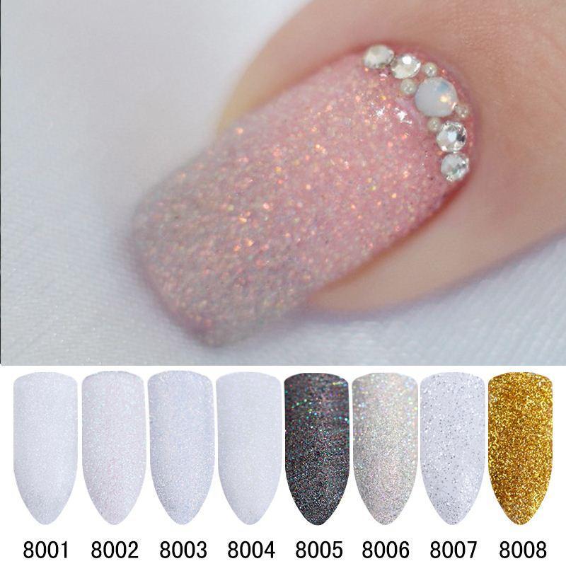 2g/Box Holographic Nail Glitter Powder Shining Sugar Nail Glitter ...