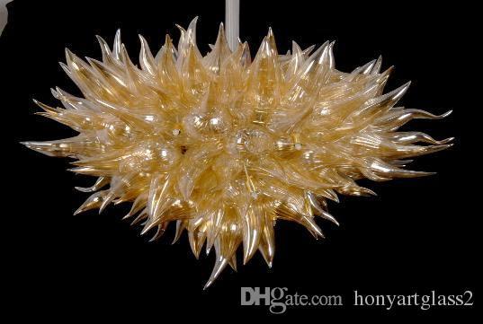 LR377-Hotel Decor Янтарная люстра из дутого стекла Современная хрустальная люстра из муранского стекла с высокими потолочными декоративными турецкими лампами