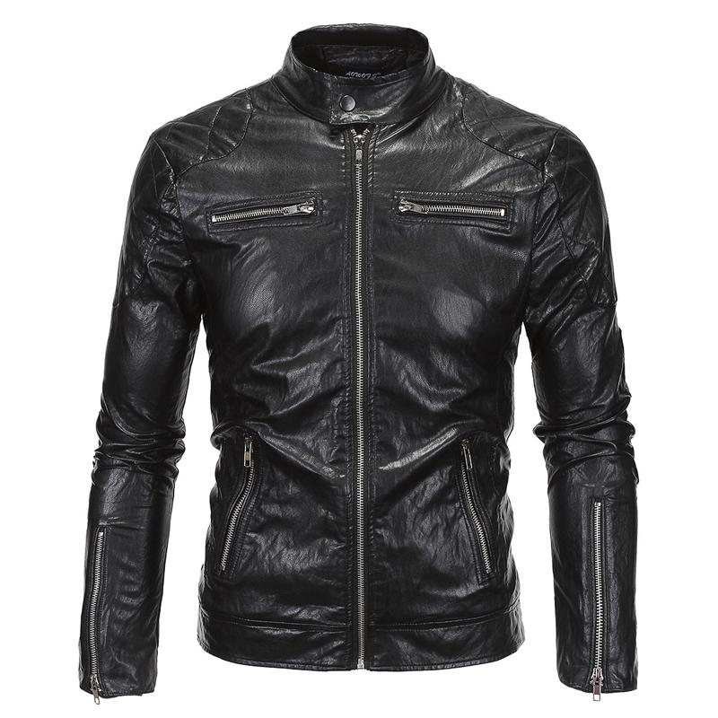 9d925b136f4a 2019 Wholesale 2016 Cool Fashion Vintage Motorcycle Jacket Wholesale  Factory Sale European Mens Leather Biker Jacket High Quality 5XL S1964 From  Maoyili